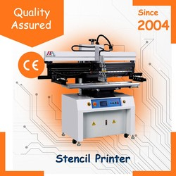 SMT hot sale semi automatic stencil solder paste printer machine PCB assembly equipment