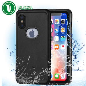 Durable Summer phone case waterproof Dual use TPU+PET+PC Hard Plastic Silicone IP68 Waterproof phone case for iPhone X