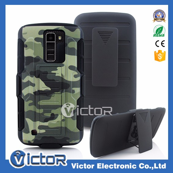 2018 NEW ARRIVAL Mobile phone Strong Rubbed Warrior robot holster case for LG K10 2017 with designs back clip