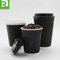Coffee cup takeaway_printed paper cups disposable_hot cup with lids