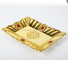 New Design decorative Fruit Tray with Gold Plate