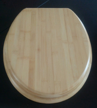 Bamboo Toilet Seat, Toilet Seat Cover with Stainless Steel Hinges, Wooden Toilet Seat with FSC