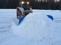 skid steer tractor snow plow / snow pusher