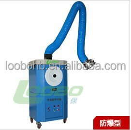 Mobile welding fume extraction and smog exhaust unit/self-cleaning smoke filter with tough cabinet