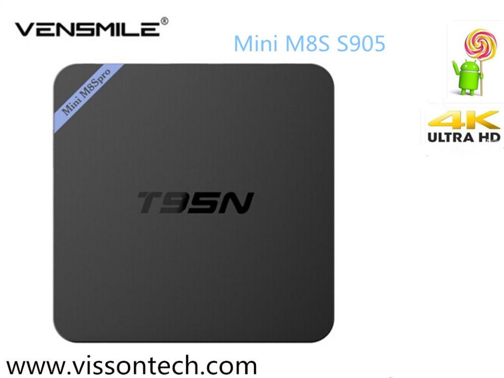 Vensmile T95N Mini M8S Quad Core Amlogic S905 With Android5.1 System 2G,8G S905 VR tv box S905 T95n