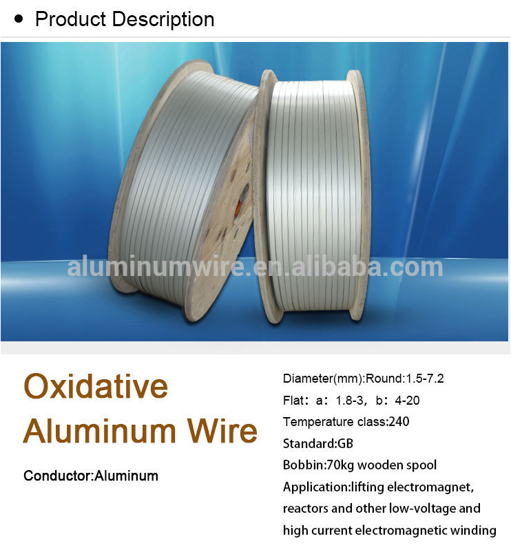 High Thermal 240 Class Oxidative Flat Aluminum Wire Electrical Cable ...