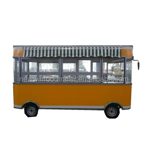 Hot selling electric mobile milk tea food bus carts