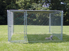 10X10X6ft Large outdoor PVC coated chain link dog kennels & dog cages & PVC dog runs