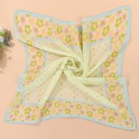 Wholesale Summer Fashion lady's solid Polka Dot Bandana Chiffon Silk Scarf