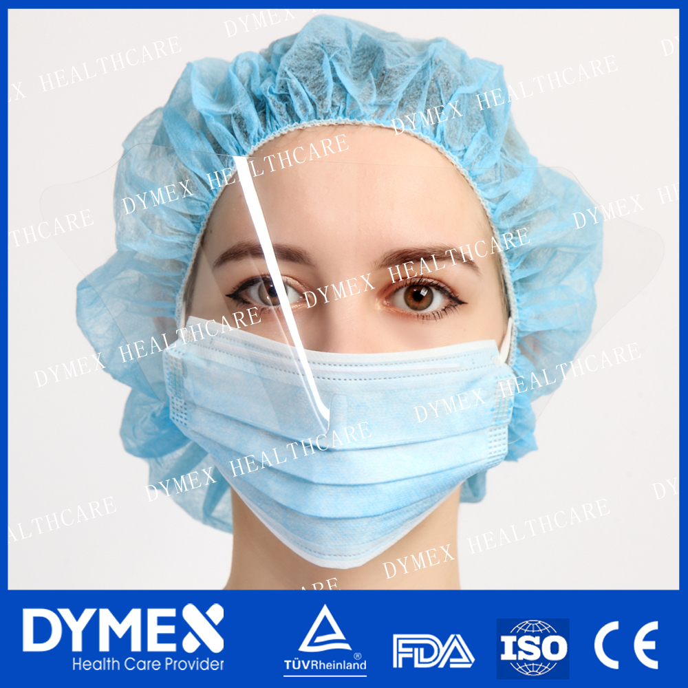 Non-woven 2 Ply Disposable Surgical Face Mask with face shield protect against bird flu