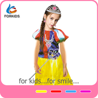 Beautiful slim girls party dresses ghana dress styles baby girl princess dresses for kids with role play set