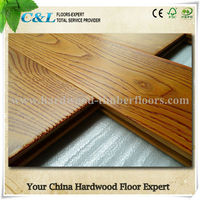 C&L prefinished UV American red oak wood flooring