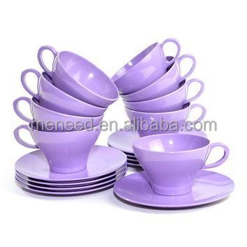 Deluxe Afternoon Tea Sets Purple Color Melamine Plastic