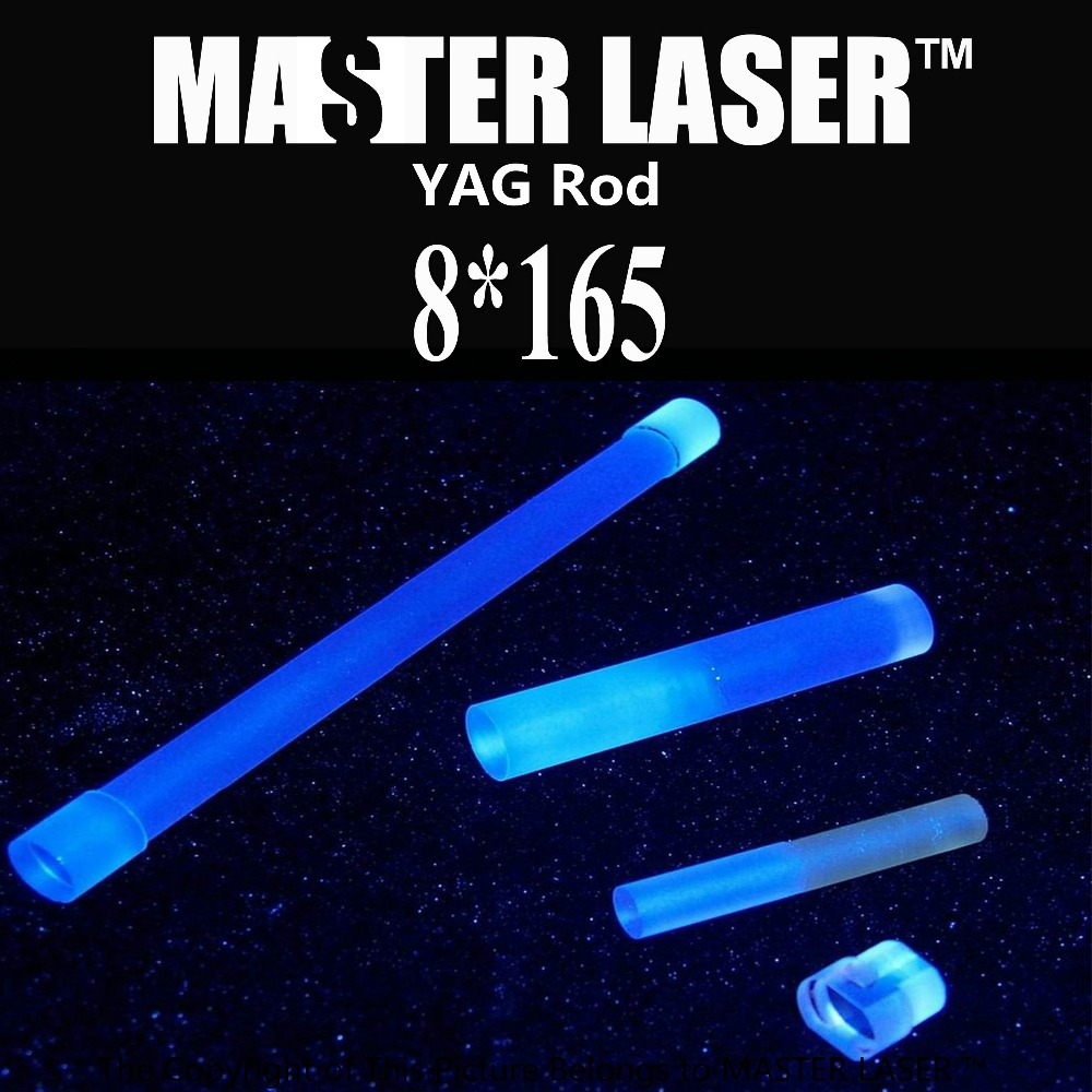 Various Type nd: Yag Laser Rod 8mm *165mm for Laser Cutting Machine