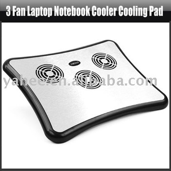 3 Fan Laptop Notebook Cooler Cooling Pad+USB 4 Port Hub,YAN102A