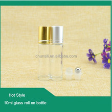 Metal Stainless Steel Rollerball Empty Liquids Oil Perfume Roll On Glass Bottle