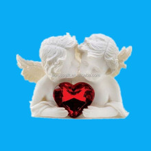 Hotsale two in love polyresin angel figurine statue