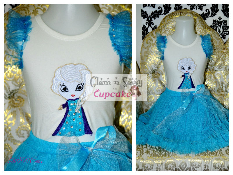 frozen elsa tutu set