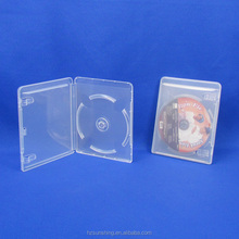 2017 hot sale 14mm clear single blu ray dvd box/case
