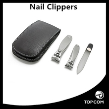 3 pcs oem service nail clipper gift set with file black mechanical tools set