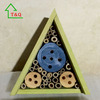 Triangel Green Coloured Natural Wooden Insect Bug Hotel House