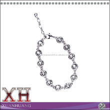 2015 Fashion Wholesale Ladies Silver Crystal Bezel Bracelet