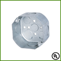 UL listed Galvanized Steel Octagonal Electrical Conduit Junction Box
