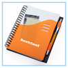 Printed student custom exercise spiral notebook with pen