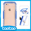 2016 NEW Durable pc Transparent custom waterproof cell phone case for iphone 6 6s for snorkeling