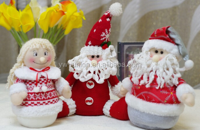 Funny plush soft Santa Claus plush toy for chrismas