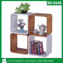 Bentwood Wood Square Wall Cube Shelf 40x40x30 CM