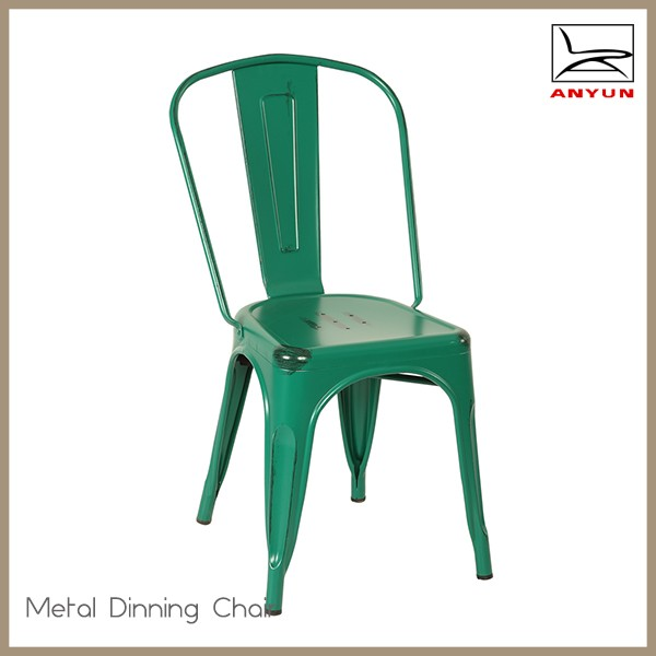2017 best price designer metal cafe chair furniture without arm