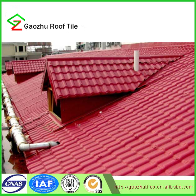 Lastest building material europe style synthetic resin roof tiles made in china