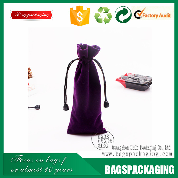 2016 hot sell small velvet drawstring pen bags wholesale