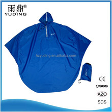 Custom waterproof polyester pvc reflective rain poncho bike