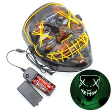 Halloween Costume Party decoration Accessories Creepy plastic Glowing 4 Modes LED mask