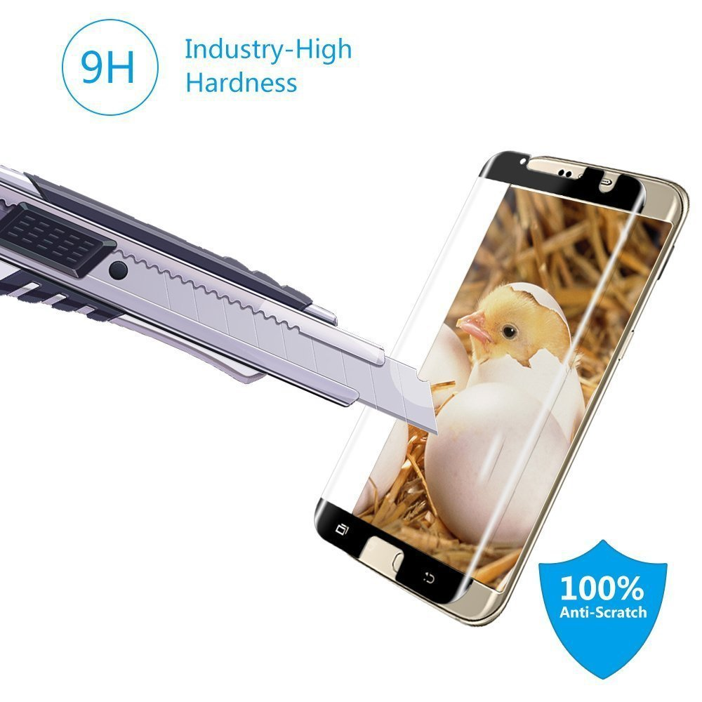 New Product Case Friendly Screen Protector 3D Curved Explosion-proof Tempered Glass Protective Film for Samsung S7 Edge