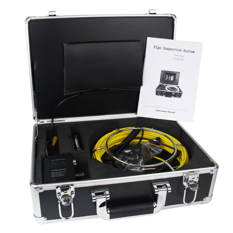 50m Cable DVR Waterproof Drain Pipe Endoscope Inspection System,Pipeline Borescope Snake Video Inspection Camera 1 Year Warranty