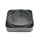 Hot sale 3 pcs Section cake pan baking tray tins round square heart bakeware