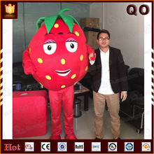 Funny fruit mascot costume red strawberry giant costume for promotion