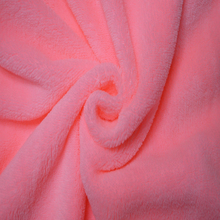 Super soft 150D 288F polyester 2 sides soild color Coral Fleece fabric