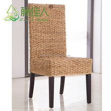 China High Quality Designer Seagrass High Back Water Hyacinth Chair