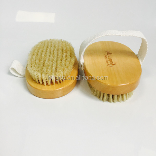 wooden Body Brush with Natural Bristles