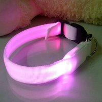 UW-PL-001 Newest purple LED Pet collar for dogs, white collar+purple LED light