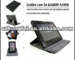 practical design!!!rotary 360 degree leather case for blackberry playbook