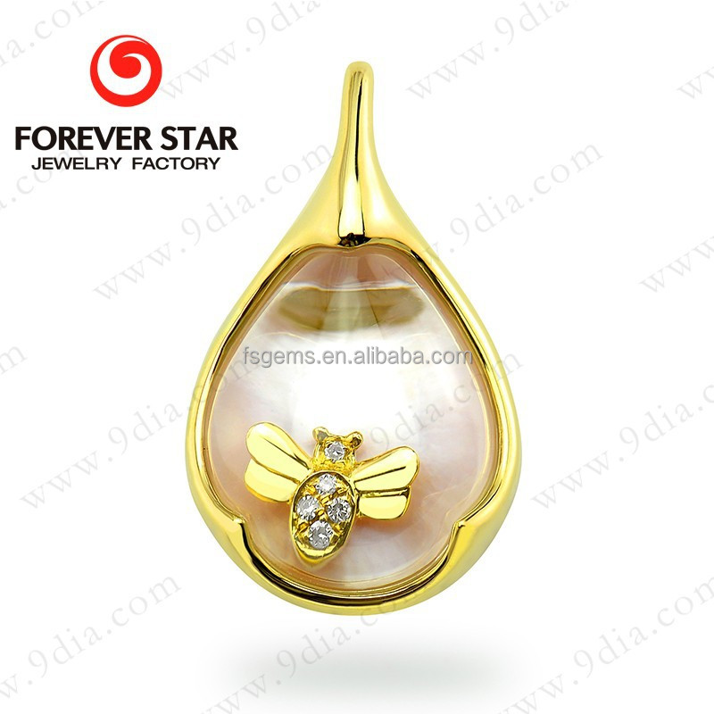2015 Alibaba China New Products for Sale 14K Gold Jewelry Wholesale China with Floating Charms