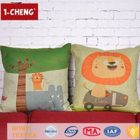 Creative Fashion Cute Printing Designs Cushion Inflatable Lumbar Support Cushion Handicrafts Made Of Abaca