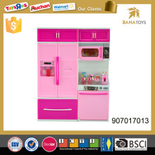 Kitchen play set mini fridge toy with light and music
