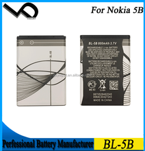 3.7V 800mAh Li-ion Battery For Nokia BL-5B 5B Battery