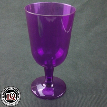 Customized Disposable Plastic Wine Glass In Neon Color